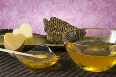 Warm honey wax Royalty Free Stock Images