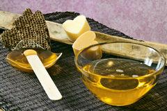 Warm honey wax Stock Image