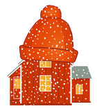 Warm house with woolen cap Stock Photography