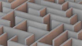 Warm Isometrisch Maze Flyover vector illustratie