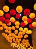 Warm kleurrijk licht Royalty-vrije Stock Afbeeldingen