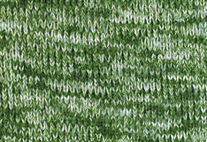 Warm knitted green fabric Stock Photography