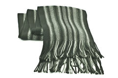 Warm knitted scarf. On a white background Stock Images