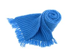 Warm knitted scarf Royalty Free Stock Images