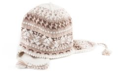 Warm knitted scarf and cap Royalty Free Stock Images