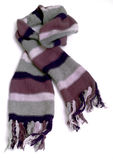 Warm knitted scarf Royalty Free Stock Photo