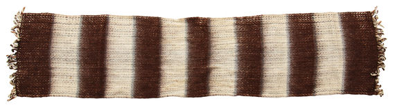 Warm knitted scarf Stock Image