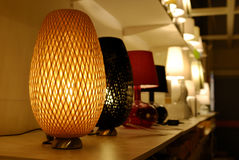Warm lamp. A warm lamp in the cabinet stock photo