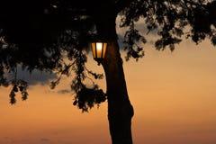 Warm light. Sunset at Kastadina bar in Paxos Stock Photography