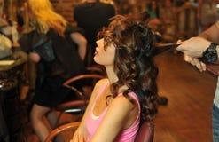 Free Warm Light Beauty Shoot Of Brunette Model In Beauty Salon Interior Stock Photography - 32607112