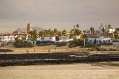 Warm light Corralejo beach Royalty Free Stock Photo