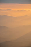 Warm light with mountain layer Royalty Free Stock Images