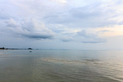 Warm light on the sea. In Koh Samui Thailand Royalty Free Stock Photos
