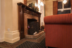 Warm lounge room. Stock Photos