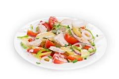 Warm meat salad stock photo