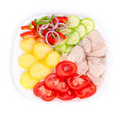 Warm meat salad Royalty Free Stock Image