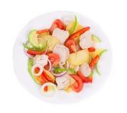 Warm meat salad Stock Photos