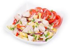 Warm meat salad stock image