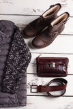 Warm men's clothing. Stock Images