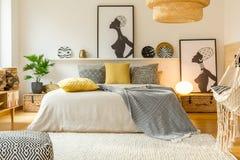 Warm modern bedroom interior Stock Photography