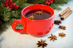 Warm mulled wine poured Stock Photo