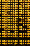 Warm night light building pattern Stock Images