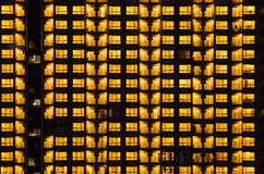 Warm Night Light Building pattern Royalty Free Stock Photo