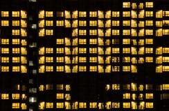 Warm Night Light Building pattern Stock Photography