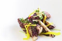 Warm Octopus Salad Stock Photography