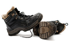 Warm old dirty shoes Stock Image