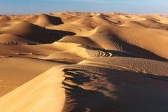 Warm orang dunes landscape stock image