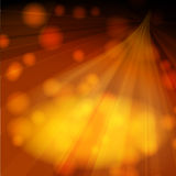 Warm orange rays Royalty Free Stock Photo