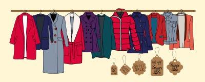 Warm outerwear royalty free illustration