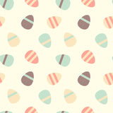 Warm pastel colorful easter eggs seamless pattern background illustration Stock Photos
