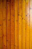 Warm pine wood wall panel, polished Royalty Free Stock Images