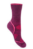 Warm, pink, sport sock. Isolated on white background royalty free stock photography