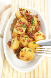 Warm potato salad with bacon Royalty Free Stock Photo
