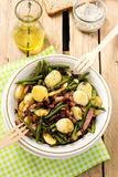 Warm Potato Salad With Green Beans And Bacon Stock Photography
