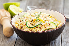 Warm quinoa salad with vegetables Royalty Free Stock Photos
