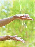 Warm rain stock photo