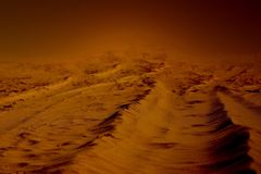 Warm red alien world. Warm red imaginary alien world background royalty free stock photography