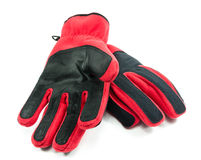 Warm red gloves on white background Stock Photography