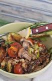 Warm red quinoa salad Stock Images