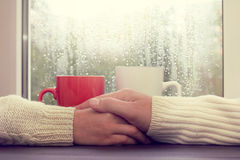 Warm relations on a date Stock Photos