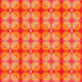 Warm retro seamless pattern with circles blackground Stock Images