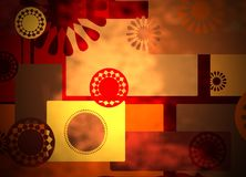 Warm rich abstract collage background Royalty Free Stock Image