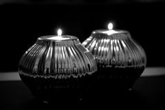 Warm. Romantics night with dark & warm candle royalty free stock photography