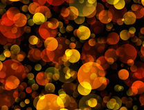 Warm Round Shapes in Chaotic Arrangement Royalty Free Stock Photo