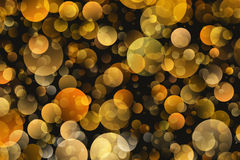 Warm Round Shapes in Chaotic Arrangement. Bokeh backgrounds Stock Image