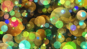 Warm Round Shapes in Chaotic Arrangement. Bokeh backgrounds motion stock video